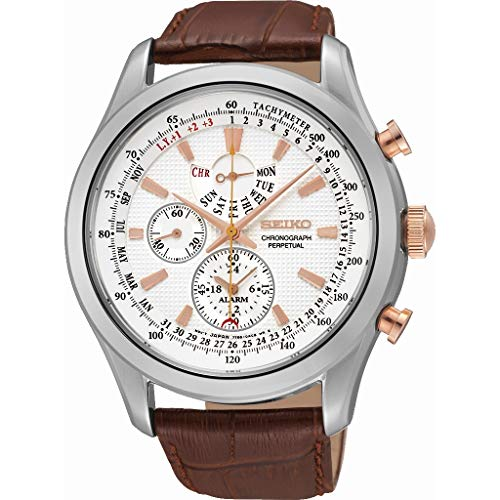 Seiko Dress Chronograph White Dial Men's Watch - SPC129P1