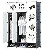 #7: GTC Multi Use Clothes Organizer, Bookcase, Storage Cabinet, Wardrobe Closet 110.5 x 47 x 163.5 CM Cloth Rack ( IT N - STW040 )
