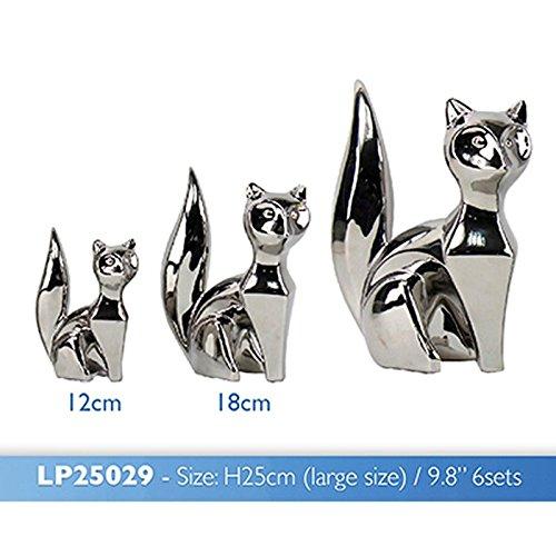 Versilbert Skulptur Fox 3-er Set (Skulpturen Fox)