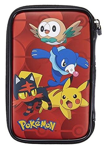 Offizielle Nintendo New 3DS XL / 3DS XL – Tasche / Hülle | 4 Motive aus Pokemon Sonne und Mond zu Auswahl | Schützt den Nintendo 3DS ; Motiv: Starter: Bauz, Robball und Flamiau