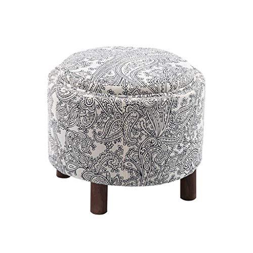 Ailj poggiapiedi, sgabello per la casa soggiorno sgabello in tessuto sgabello per tavolino multifunzione 49 * 49 * 42 cm (4 colori) (colore : d)