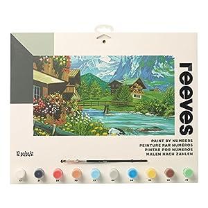 Reeves - Creatividad - Pintar por números - Grande, casas de montaña