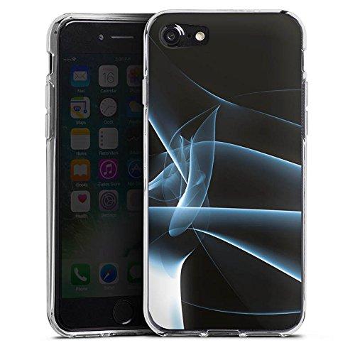 Apple iPhone X Silikon Hülle Case Schutzhülle Rauch Nebel Muster Silikon Case transparent