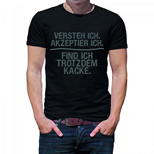 Herren T-Shirt Modell: Versteh ich 01 - schwarz