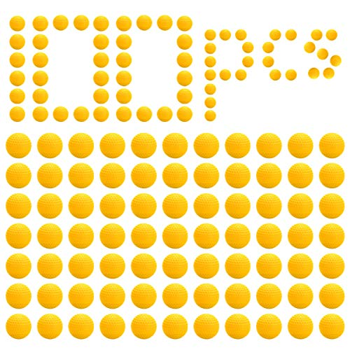 LAOYE 100 Ocs Compatible Juguete Recambio Redondo Bolas de Balas de Espuma Bolas de Balas de Reemplazo Compatible