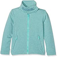 Bench Girl's New Funnel Sweat Sweatshirt, T??rkis (Turquoise Marl MA1044), 128 cm(Herstellergr????e: 7-8)