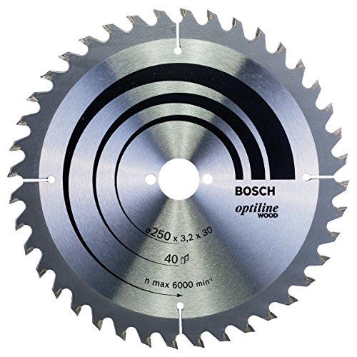 Bosch Professional Kreissägeblatt Optiline Wood zum Sägen in Holz für Handkreissägen (Ø 250 mm)