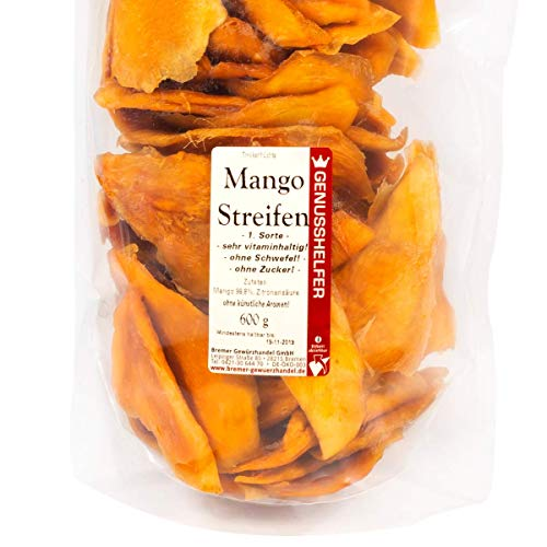Mangos, Vorteilspack 1 kg - \'Die Leckersten!\', ohne Schwefel & Zuckerzusäte, ungeschwefelt, unbehandelt - Bremer Gewürzhandel