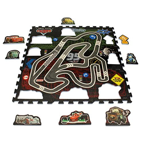 Disney Original Pixar Cars 17 Piezas 3D Puzzle Mate/Alfombra/Alfombrilla/Alfombra de Juegos 93 x 93 X 1 cm Nuevo 3