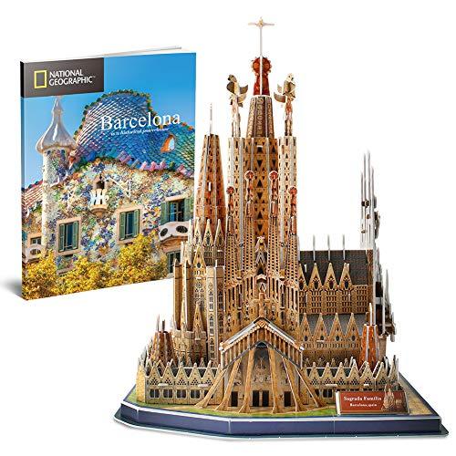 ographic 3D Puzzles Sagrada Família Barcelona City Modellspielzeug Architektur Kits, mit City Traveler Booklet ()
