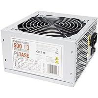 PC Case Gear EP-500 - Fuente de alimentación (500 W, 220 V, 50 - 60 Hz, 12 cm, superior, 20+4 pin ATX)