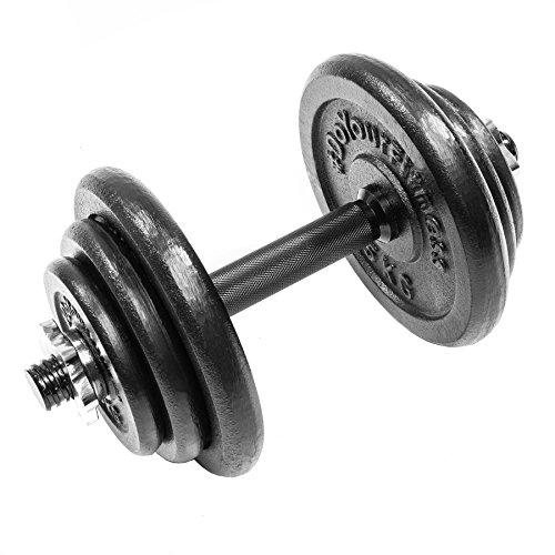 Kurzhantel mit Sternverschluss inklusive Hantelscheiben (Gewichte) aus 100% Gusseisen in unterschiedlichen Varianten 30kg 27,5kg 25kg 20kg 10kg