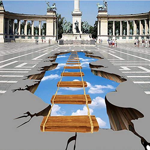 Zxdxd Benutzerdefinierte Foto-Boden-Tapete 3D HD Abenteuer Cliff Mural Park Plaza Shopping Mall rutschfeste wasserdichte Tapete-400X280cm