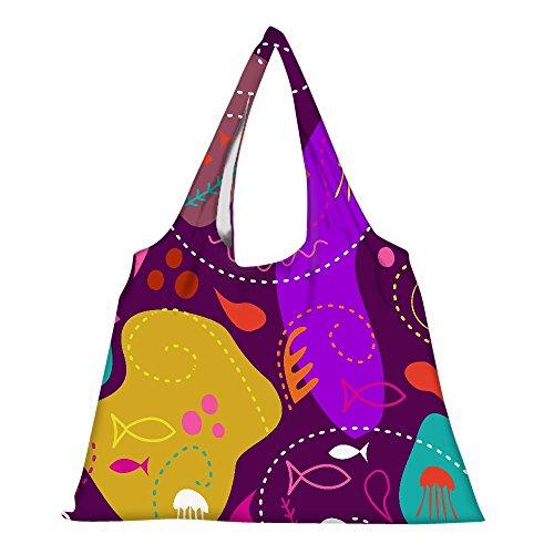 Snoogg High Strength Wiederverwendbare Einkaufstasche Fashion Style Lebensmittelgeschäft- Tasche Jhola (Tasche Lebensmittelgeschäft-stil)