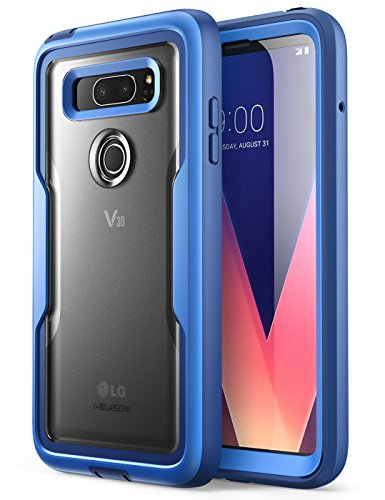 i-Blason LG V30 Hülle, [Magma] Outdoor Schutzhülle Heavy Duty Case Klar Back Cover Ganzkörper Handyhülle Stoßfänger Schale mit eingebauter Displayschutzfolie für LG V30 2017, Blau