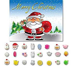 Cooljun Weihnachten Spielzeug Mini Cute Squeeze Lustiges Spielzeug Weiche Stressabbau Spielzeug DIY Dekor für Erwachsene und Kinder Weihnachten Geschenk Haus Dekoration