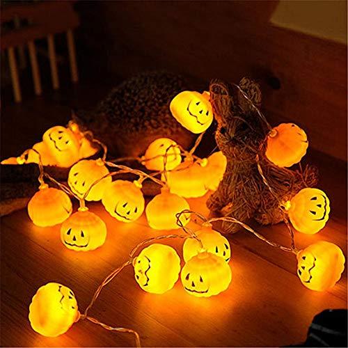 Halloween LED Kürbis Lichterkette 2M 20 LED wasserdichte 3D Kürbis Lichter For Halloween Weihnachts dekorationen Indoor&Outdoor Theme Parteien Festival