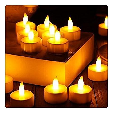 LED Bougie électrique, Kangrunmy 24 Bougies Cire Lot Led Sans