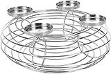 Metall Adventskerzenhalter - silber - Adventskranz Kerzenhalter Kerzenständer