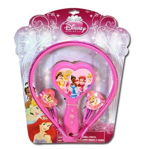 Disney Princes Hair Accessories Beauty Gift Set with 4 Pieces by Disney (Princeses Disney)