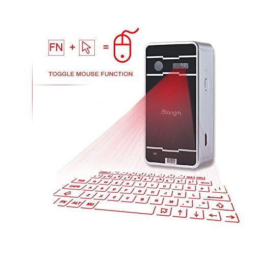 Laser Tastatur, atongm Virtual Projektion Bluetooth Wireless Tastatur für iPad iPhone Android Smart Phones PC Notebook -