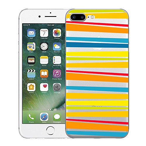 iPhone 7 Plus Custodia cover transparente Silicone Case Pacyer® TPU Protettivo Skin Shell Per apple iPhone 7 Plus 5.5 cover Antiurto Anti-Graffio Design Creativo frutta Strisce gialle