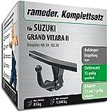 Rameder Komplettsatz, Anhängerkupplung starr + 13pol Elektrik für Suzuki Grand Vitara II (142332-05489-1)