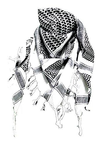 Alex Flittner Designs Keffieh foulard palestinien Blanc/Noir