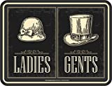 Best Plaques papa - Rahmenlos Plaque en: Panneau–Toilettes hommes femmes–Ladies Gents Review