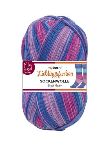 Neu Lieblingsfarben Socken-Wolle 4-Fädig Häkel-Strickgarn für Strümpfe je 100 g Pro Knäuel und 420 m Lauflänge, Maschinenwaschbar bis 40 Grad …Birgit Bauer (Superwash-wolle-socke-garn)