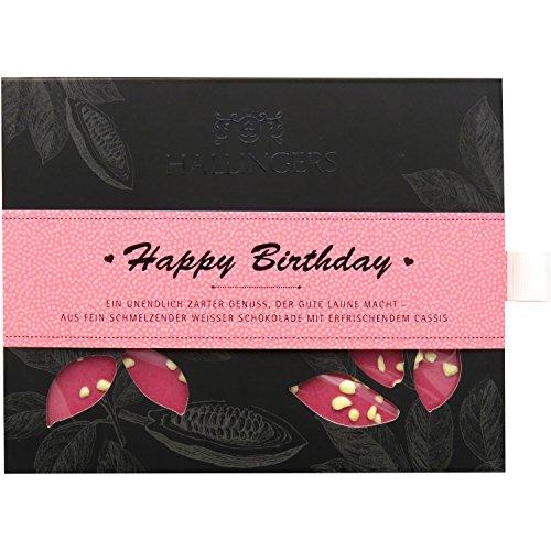 Hallingers Tafel Happy Birthday Girl, weiß | Tafel-Karton | 90g