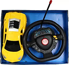 Kanchan Enterprises Plastic Racing Steering Remote Control Car (Multicolour)