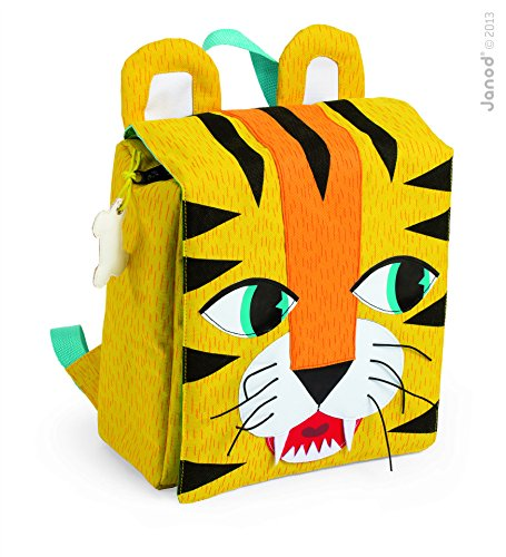 Janod 07702 - Zaino Tiger, 23 x 10 x 25 cm