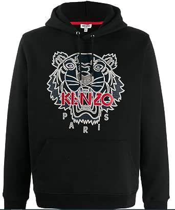 Kenzo Men's Tiger Hooded Sweatshirt Black 100% Cotton