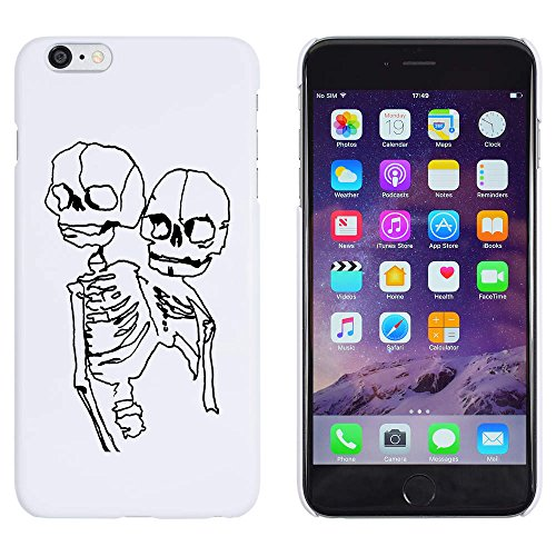 Azeeda Weiß \'Kontrabass-Skelett\' Hülle für iPhone 6 Plus & 6s Plus (MC00134766)