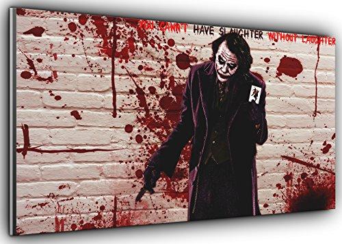 Der Joker Batman Dark Knight Panorama Leinwand Kunstdruck Bild gerahmt XXL 139,7x 61cm über 4,5Ft breit x 2ft Hoch fertig zum Aufhängen (Und Batman Der Joker)