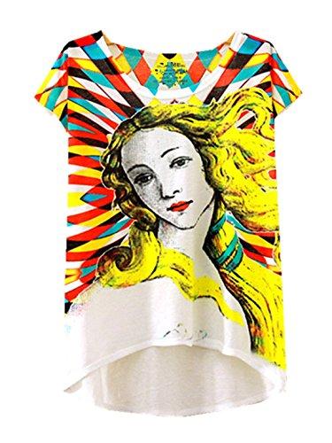YICHUN Damen T-Shirt Mehrfarbig mehrfarbig One size Woman 6#
