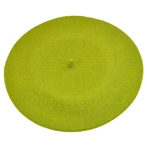 Plain Beret Hat 100% Wool French Beret Winter Autumn Women