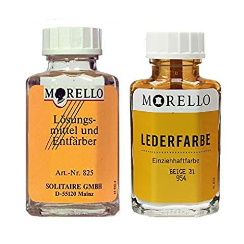 Morello Lederfarbe beige mit Morello Lederreiniger