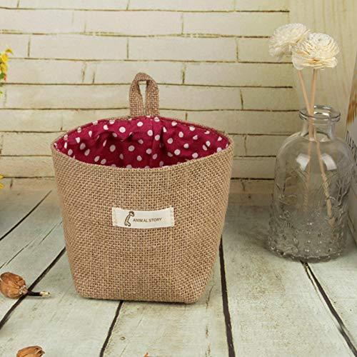 doitsa bolsa de almacenamiento pared Brown peque/ña caja de almacenaje bolsa de almacenamiento puerta suspendida bolsa organizador pared bolsas en pared caja de almacenaje con la casa Size 14/x 12,5/cm