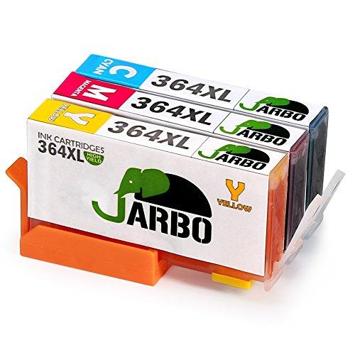 JARBO Ersetzt für HP 364XL 364 Druckerpatronen (Blau, Rot, Gelb) für HP Photosmart 6520 5510 7510 7520 5524 6510 5515 5520 C5380 B010a B110a, HP OfficeJet 4620 4622, HP Deskjet 3070A 3520 3524 3522