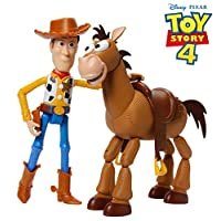 Disney GDB91 Pixar Toy Story 4 Woody and Bullseye Movie-inspired Relative-Scale for Storytelling Play, 2-figure pack