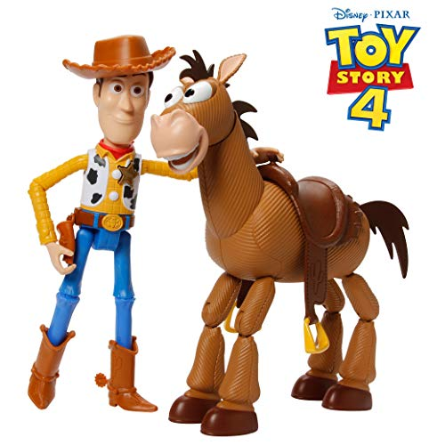 Disney Gdb91 Pixar Toy Story 4 Woody And Bullseye Movie Inspired Relative Scale For Storytelling Play 2 Figure Pack