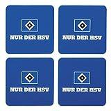 Hamburger SV Silikon - Untersetzer 4er-Set HSV