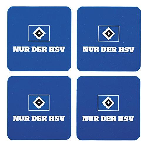 "HSV Hamburger SV Untersetzer "" NUR DER HSV "" Silikon 4er Set"