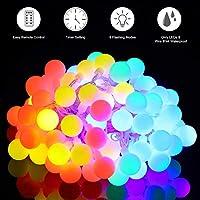 Multicolor Cadena de Luz, Govee Guirnalda Luces 100 LEDs, 8 Modos de Lluminación, Bonito Para Jardín, Casa, Boda, Navidad, Fiesta, Reuniones Familiares o Amigos