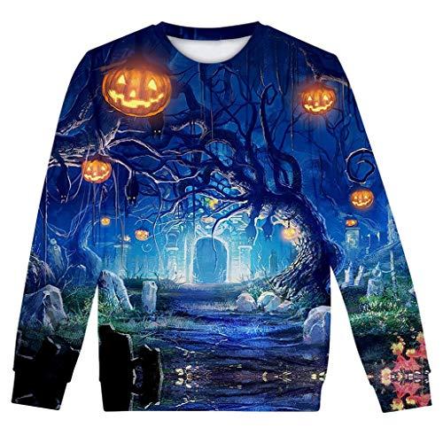 Freundin Cute Kostüm Freund - kolila Halloween Sale Damen Herbst Winter Neueste 3D Halloween Druck Bluse Casual Langarm Tops Sweatshirt Pullover