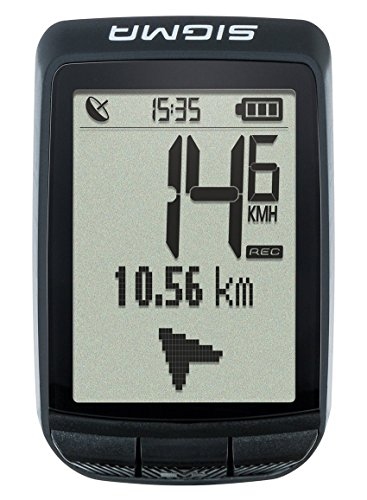 Sigma Sport Fahrrad Computer PURE GPS, Höhenmessung, Kompass-Navigation, Kabelloser Fahrradtacho, Schwarz - 2