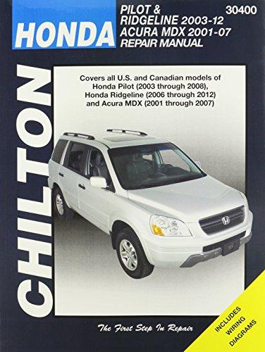 honda-pilot-ridgeline-acura-automotive-repair-manual-chiltons-total-car-care-repair-manuals