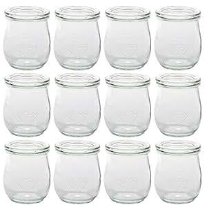 12er Pack Weck Tulpen Gläser Vorspeisen Dessert Glas mit
